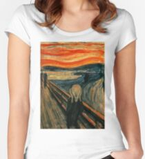 The Scream - Edvard Munch Women's Fitted Scoop T-Shirt
