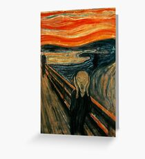 The Scream - Edvard Munch Greeting Card
