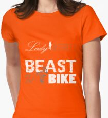 Beast on the bike Womens Fitted T-Shirt