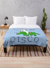 Zur Disco (Unicorn Riding Triceratops) Fleecedecke