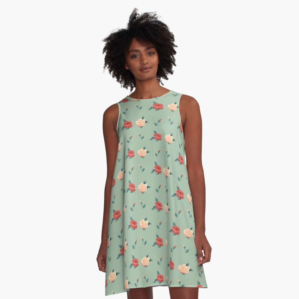 War of Roses A-Line Dress Front
