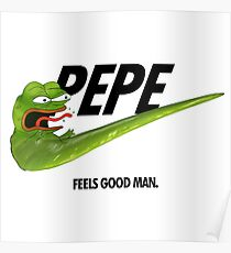 Nike Pepe FEELS GOOD MAN Poster