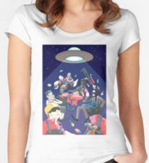Look out! Women's Fitted Scoop T-Shirt