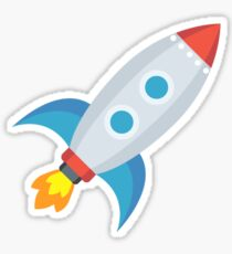 Cartoon Rocket Sticker