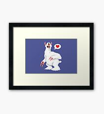 The Candy Pain Monster Framed Print