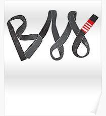 BJJ Brazilian Jiu-jitsu by Black belt Poster