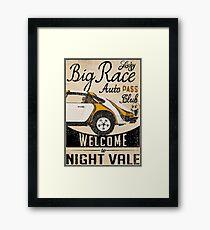 Lucky Big Race Framed Print