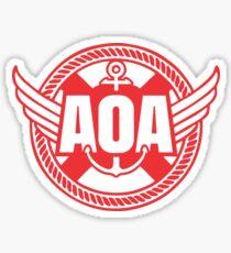 AOA good luck red Sticker