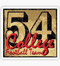 54 College Football Team Sticker