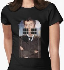 The Doctor Tee - Tardis T-Shirt Womens Fitted T-Shirt
