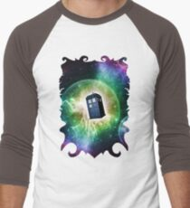 Universe Blue Box Tee The Doctor T-Shirt Men's Baseball ¾ T-Shirt
