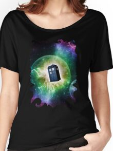 Universe Blue Box Tee The Doctor T-Shirt Women's Relaxed Fit T-Shirt