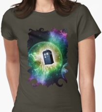 Universe Blue Box Tee The Doctor T-Shirt Womens Fitted T-Shirt