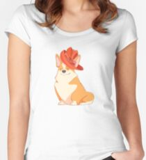 Queen Corgi Women's Fitted Scoop T-Shirt