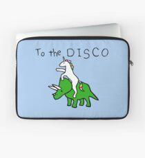 Zur Disco (Unicorn Riding Triceratops) Laptoptasche