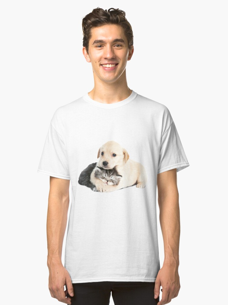 cat-dog puppies Classic T-Shirt Front