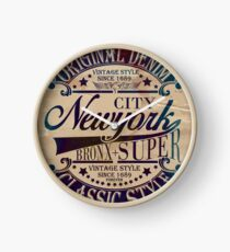 New York City Super Bronx Clock