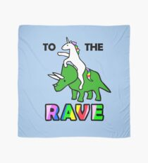 To The Rave! (Unicorn Riding Triceratops) Scarf
