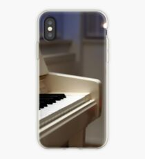 White piano at home iPhone Case