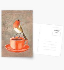 coffee loving robin bird Postcards