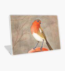 coffee loving robin bird Laptop Skin