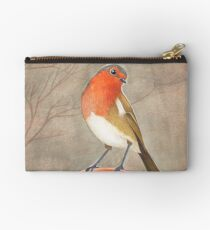 coffee loving robin bird Studio Pouch