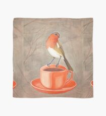 coffee loving robin bird Scarf