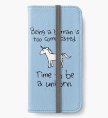 Time To Be A Unicorn iPhone Wallet/Case/Skin