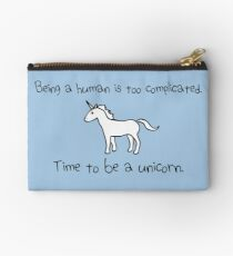 Time To Be A Unicorn Zipper Pouch