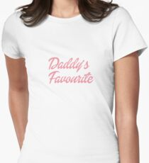 Daddy's Favourite DDLG Women's Fitted T-Shirt
