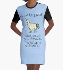 Sei immer du selbst, es sei denn du kannst ein Llamacorn sein T-Shirt Kleid