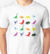 Fun Dinosaur Pattern Unisex T-Shirt