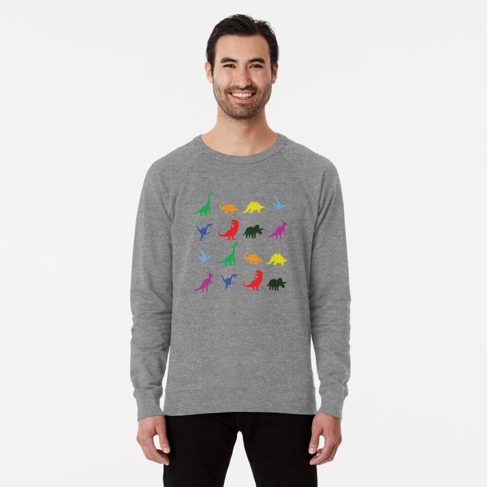 Spaß-Dinosaurier-Muster Leichter Pullover
