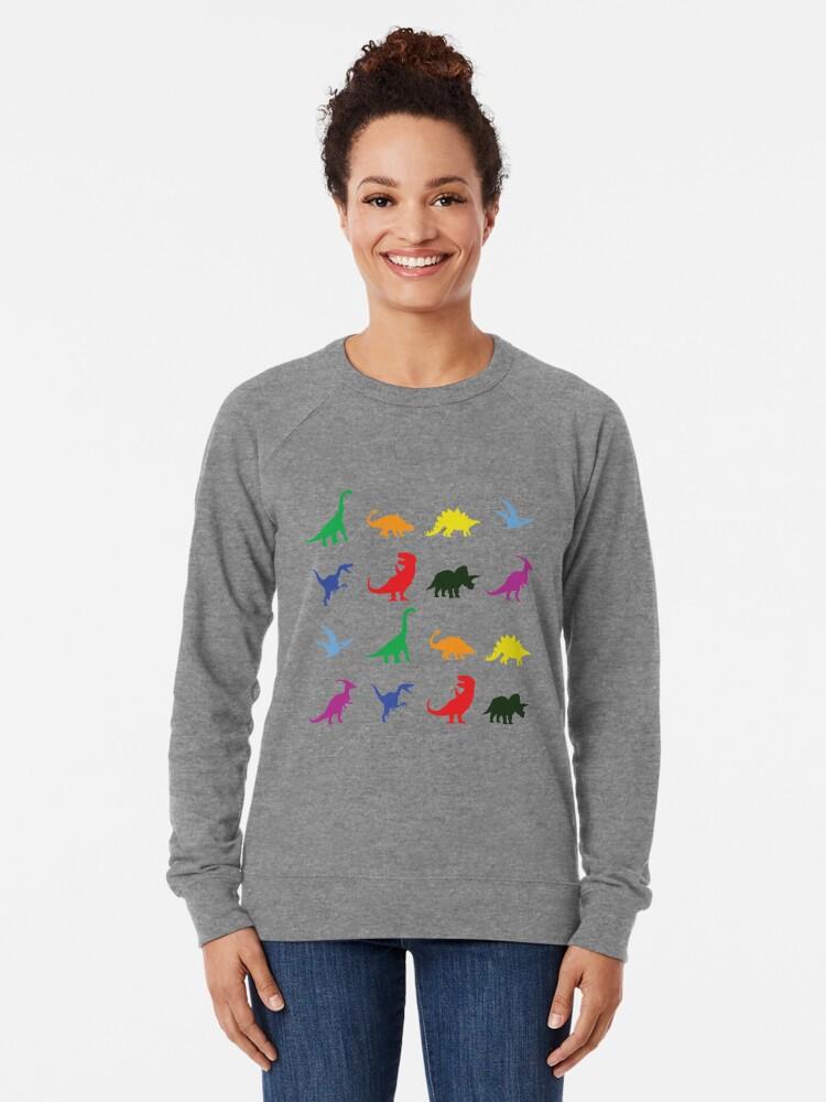 Alternative Ansicht von Spaß-Dinosaurier-Muster Leichter Pullover