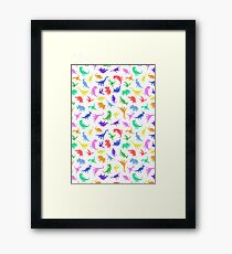 Fun Dinosaur Pattern Framed Print