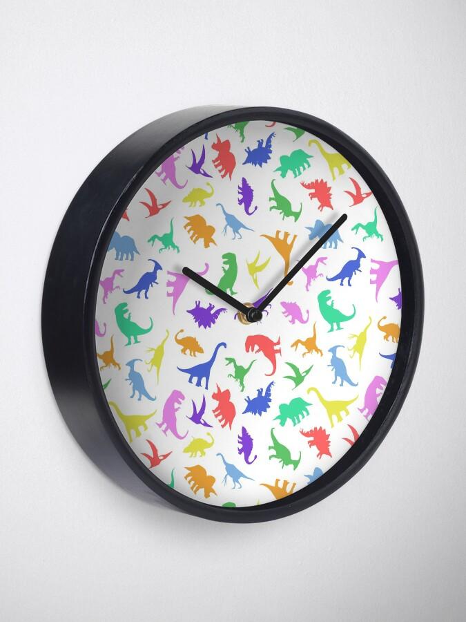 Alternative Ansicht von Spaß-Dinosaurier-Muster Uhr