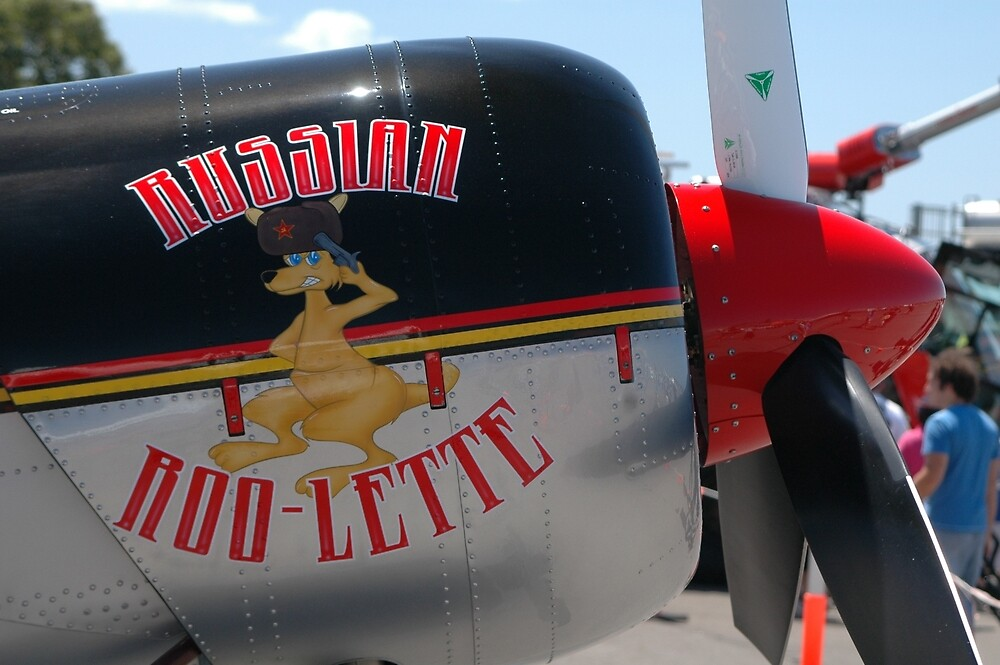 Russian Roo-Lette Nose Art,Amberley Airshow,Australia 2008 by muz2142