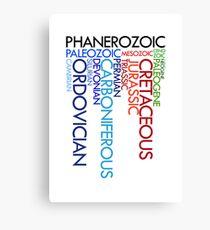 Phanerozoic aeons, eras, ages Canvas Print