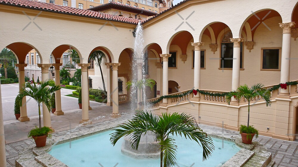 Moorish Style Courtyard by photorolandi