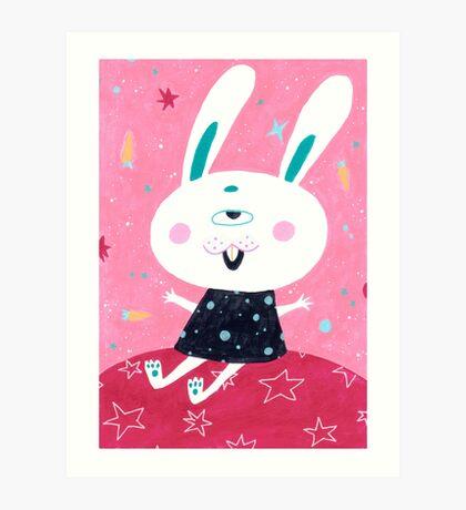 Bunny from mars Art Print
