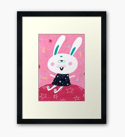 Bunny from mars Framed Print