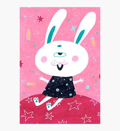 Bunny from mars Photographic Print