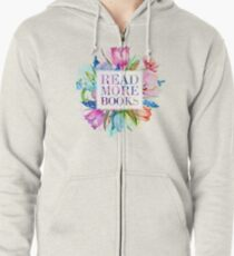 Read More Books Pastel Zipped Hoodie