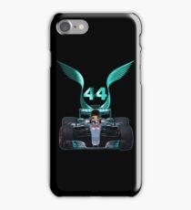 Lewis Hamilton and 2017 f1 car iPhone Case/Skin