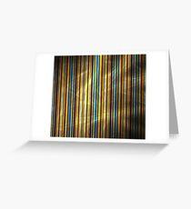 Orange Blue Stripes Greeting Card
