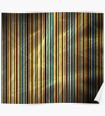 Orange Blue Stripes Poster