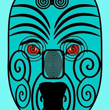 My Interpretation of a Maori Mask by ZipaC