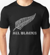 """The Rugby Team """"All Blacks"""" of New Zealand  Unisex T-Shirt"""