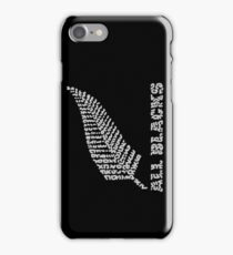 "The Rugby Team ""All Blacks"" of New Zealand  iPhone Case/Skin"