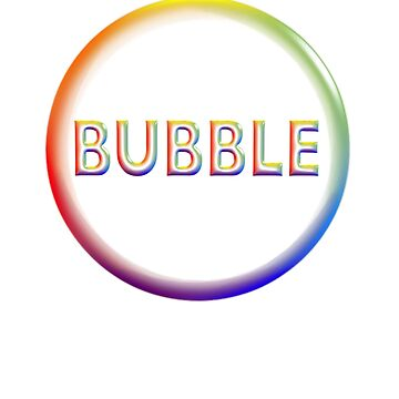 Bubble in Rainbow Colors Logo-Style Design by suzetteransome